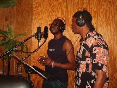 Reggie & Deryck at Bolivar's studio