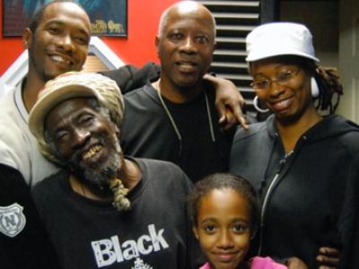 Family studio time. Iauwata,Colin (Finis),Takiyah,Reg,Colleen