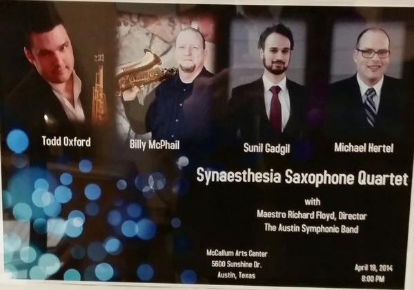 <p>Synaestheisa Saxophone Quartet Debut Poster </p> <p>2014</p>