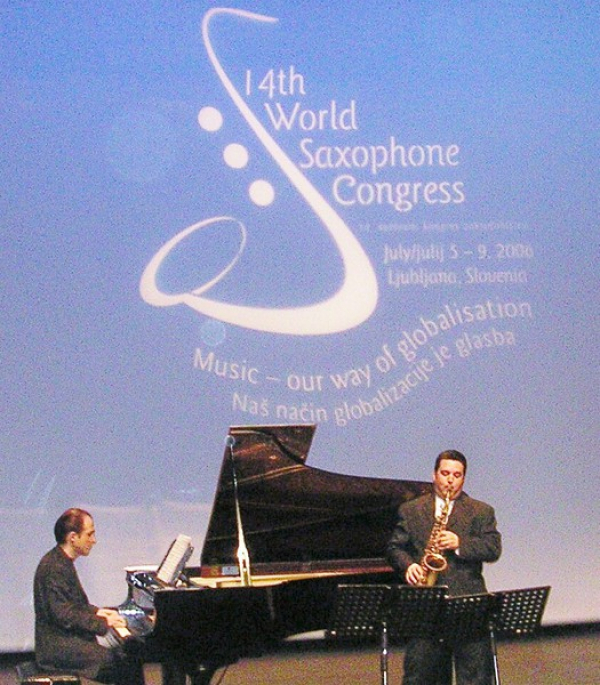 <p>Featured Soloist at 14th World Saxophone Congress</p> <p>Ljubljana, Slovenia</p> <p>2006</p>