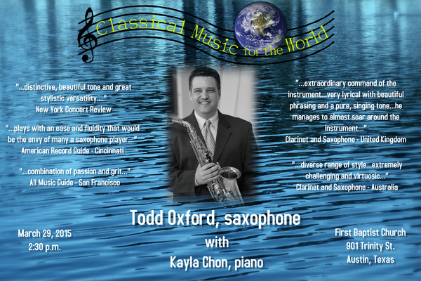 <p>Classical Music for the World Concert Series</p> <p>2015</p>