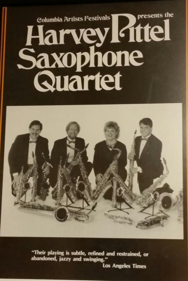 <p>First photo shoot with the Harvey Pittel Saxophone Quartet </p> <p>1988</p>