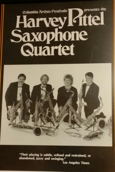 <p>First photo shoot with the Harvey Pittel Saxophone Quartet </p>