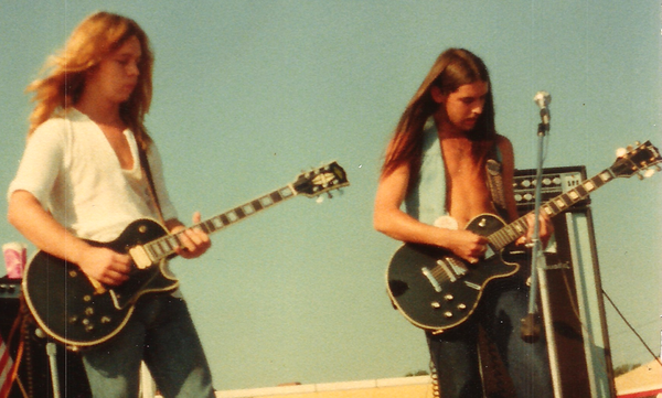 A young Pic Of Billy & Randy Nuthin Fancy Band