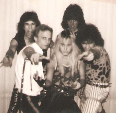 Mark Francis and Cleveland metal band Matrixx late 1984