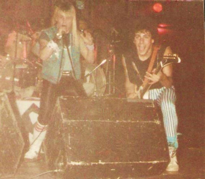Mark Francis and Matrixx guitarist Andy Stoltz circa 1985