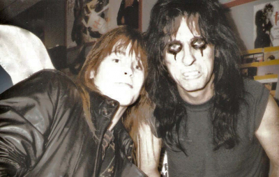 Mark Francis and Alice Cooper circa 1997 after a long hard day