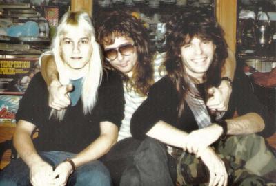 The Whitesnake Boys: Mark Francis, David Coverdale & Rudy Sarzo