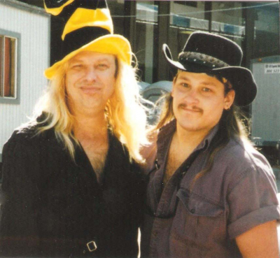 The one, the only, the cat in the hat, Jim Dandy from Black Oak Arkansas and Mark Francis circa 1993