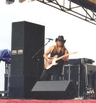Mark Francis with Cottonmouth and ZZTop at Texas Stadium early 2000's