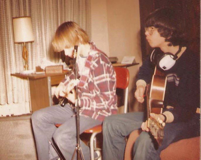 Mark and cousin Bobby jamming together circa 1978