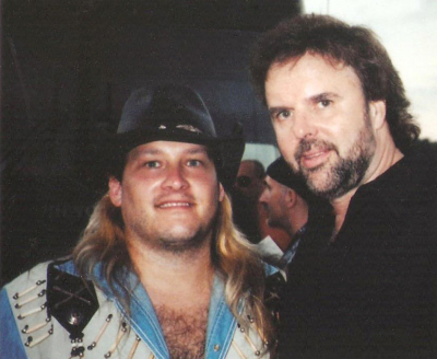 Don Barnes of .38 Special and Mark Francis at Sturgis