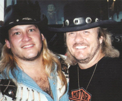 Donnie Van Zant of .38 Special and Mark Francis at Sturgis