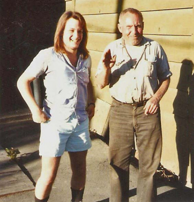 Mark Francis and legendary Bigfoot/Sasquatch hunter Rene Dahinden in 1990 at the Vancouver Gun Club in British Columbia