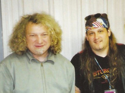 Mark Francis and Foreigner singer Lou Gramm