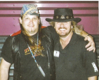 Donnie Van Zant of .38 Special and Mark Francis at Sioux Falls Arena