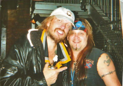 Mark Francis and the maestro himself, Michael Schenker