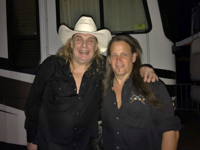 Mark Francis and Molly Hatchet singer Phil McCormack in Cape Coral, Florida April 2018