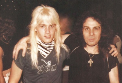 Mark Francis and Ronnie James Dio in Cleveland 1983