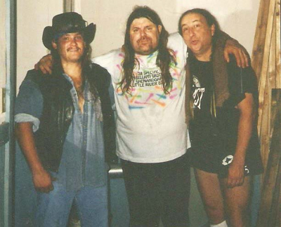 After a fun evening of jamming onstage all night with buddies Dave Hlubek of Molly Hatchet and Jackson Spires of Blackfoot circa 1998