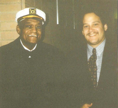 Mark Francis and legendary comedian Slappy White from Sanford & Son at the Cleveland Police Benefit Ball in 1994