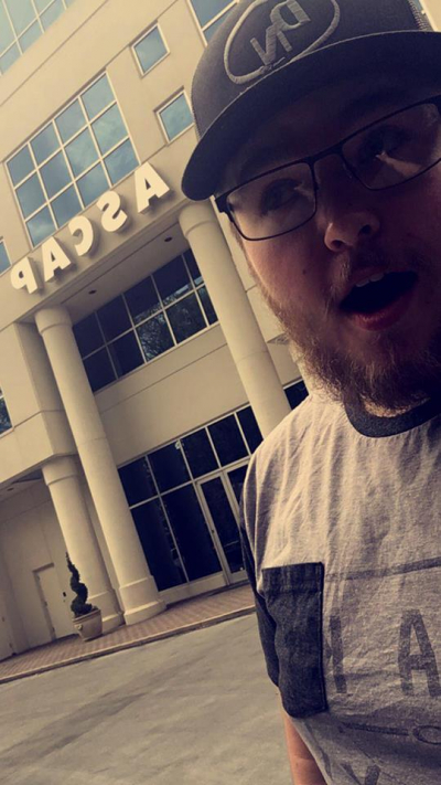 heading in to write a song at the ASCAP bldg. in Nashville, TN