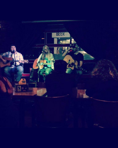 tryin out some new songs at the Pour House here in Nashville