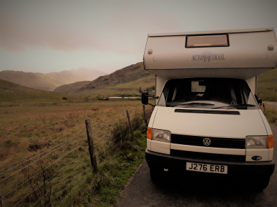 The van conquered Snowdon (2nd gear up the hill)