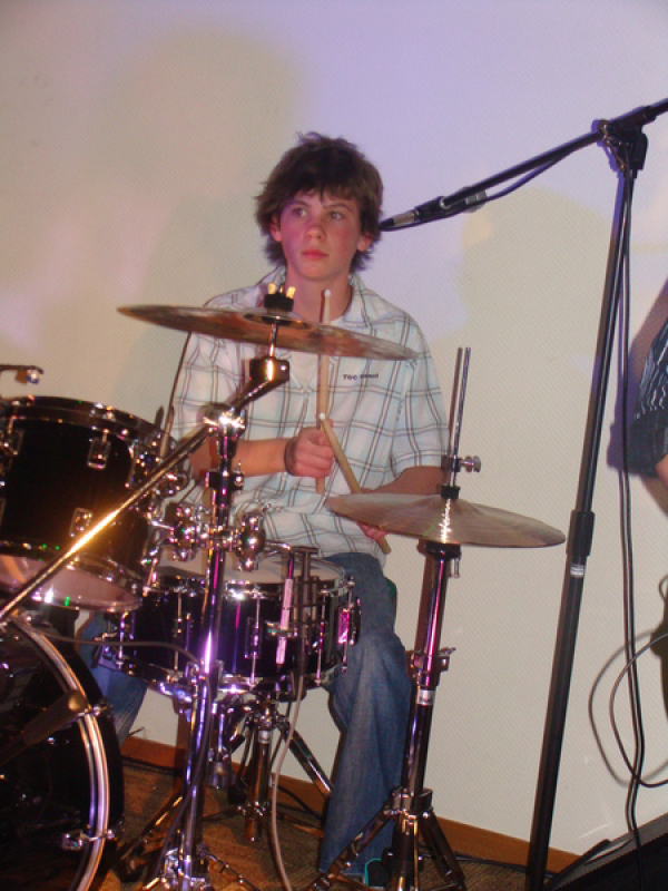 Joel Henderson (Steve & Sharons son) playing a number