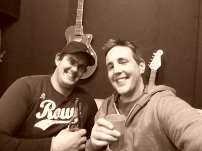 Dan & Matty enjoying a recording session!