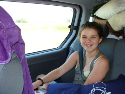 Bayley Henderson being very Patient on the 14 -1/2 hour Van drive to Tamworth!!!