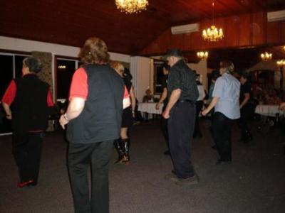 Line dancing troupers