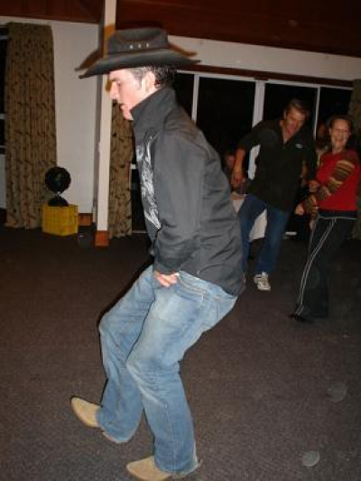 'Roadie Kendal' and his stomping moves.