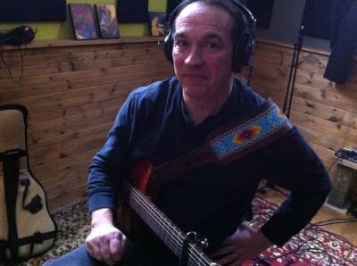<p>Dubbin' guitars</p>