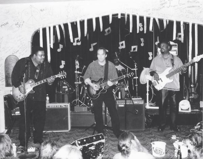 <p>Denny with Larry McCray, Johnny B. Gayden and Steve McCray</p>