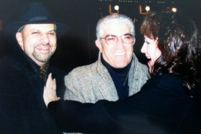 Havin' a ball in NYC New Year's Eve 2008 with actor Frank Vincent