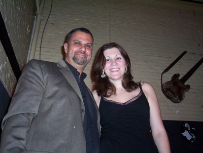Ricky with Blues Songstress Lydia Warren
