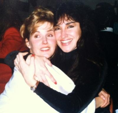 With friend Brenda Brock