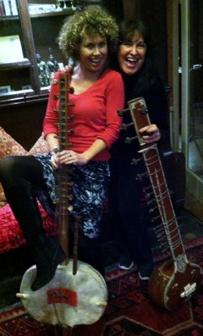 Aoife Clancy hammin' it up in studio with Zan