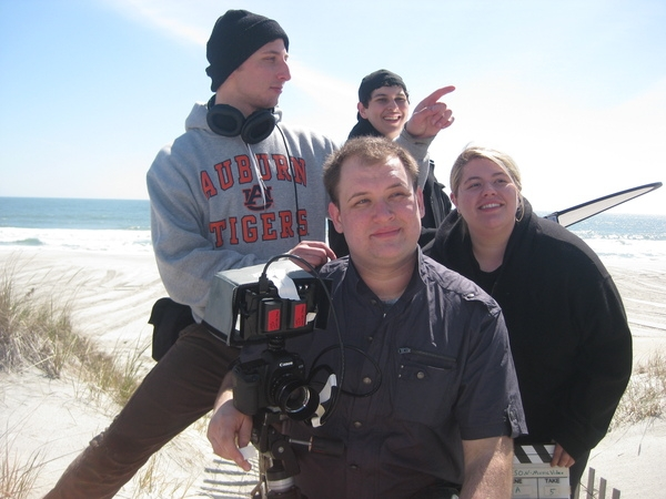 The Amazing Crew: from back to front,Michael, Clayton(Clive), Lucy and Jeremy