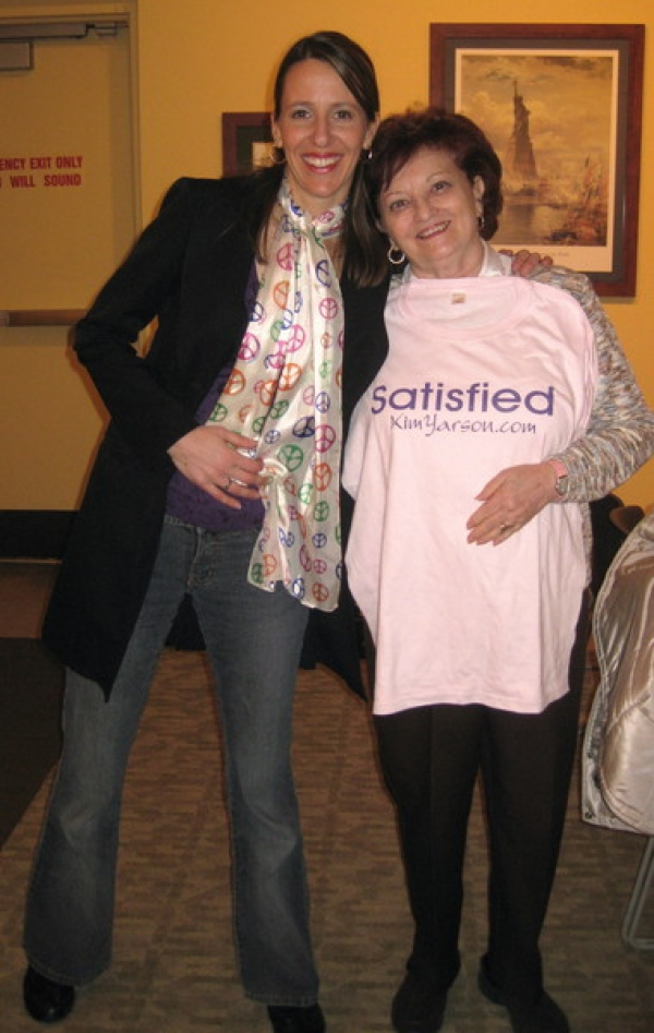 Judy wins the raffle of my Satisfied T-shirt, congrats.
