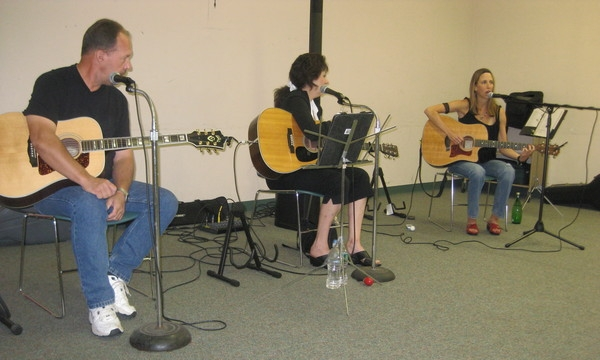 Long time co-writers Barbara Harley and Al Lind join me at Ewing Library for my Songwriters in the Round.