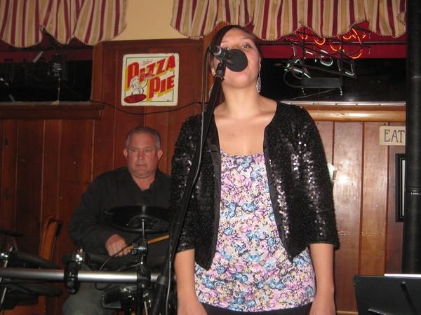 Marisha Jakubicki on backround and Danny Coleman on drums
