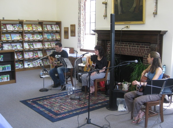 Arlon Bennet, Barbara Harley and myself for my second appearance at Bound Brook Library for my Songwriters Series