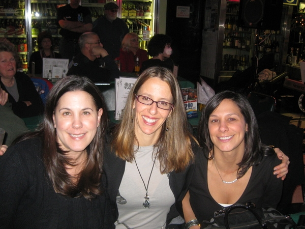 My buddies Dana and Dina come out for a drink and some fun.