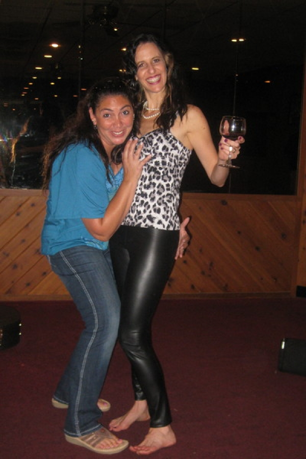 My bff Gina Kwortnik came for post party support as you can see by where her hands are!