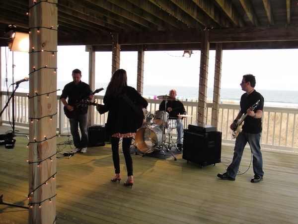 Paul Myatovich on lead, Danny Coleman on drums, Michael Thompson on bass and me!