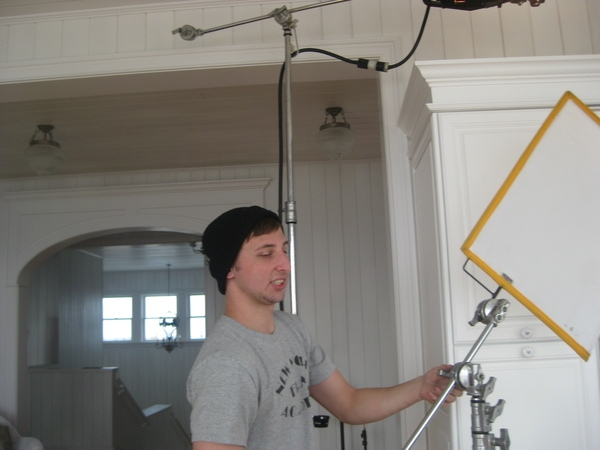 Michael Patti as director and setting up lighting