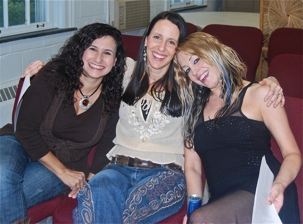 Gyrl Band's Sandy Zio, Kim Yarson(me) and Lisa Bouchelle gearing up to sing for Hightstown Presbyterian 2nd Annual Songwriters in the Round