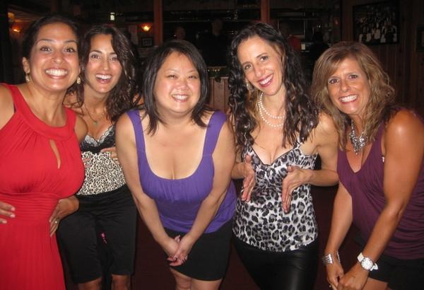 Supriya, Daniela,Karen, me and Daniela: my good friends showing off our girls!